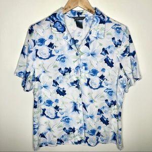 Koret Floral Short Sleeve Button-down